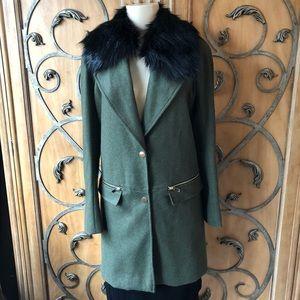 River Island NWT Wool Jacket Detachable Collar